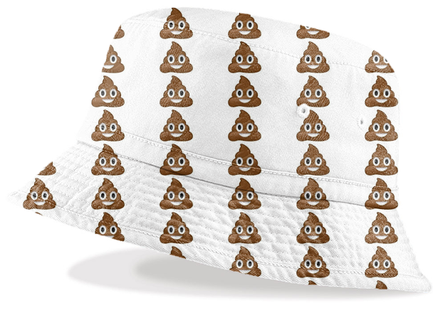 6f19b177902 Poop Emoji Bucket Hat  48.00. By arianakaz