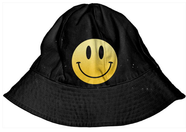 45877bc79ba smiley face bucket hat  43.00. By AutumnChen