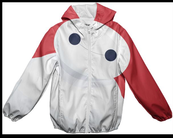Shop Baymax From Big Hero 6 Kids Rain Jacket By Alessandro Aru Jaket Hoodie Black 6500 Design